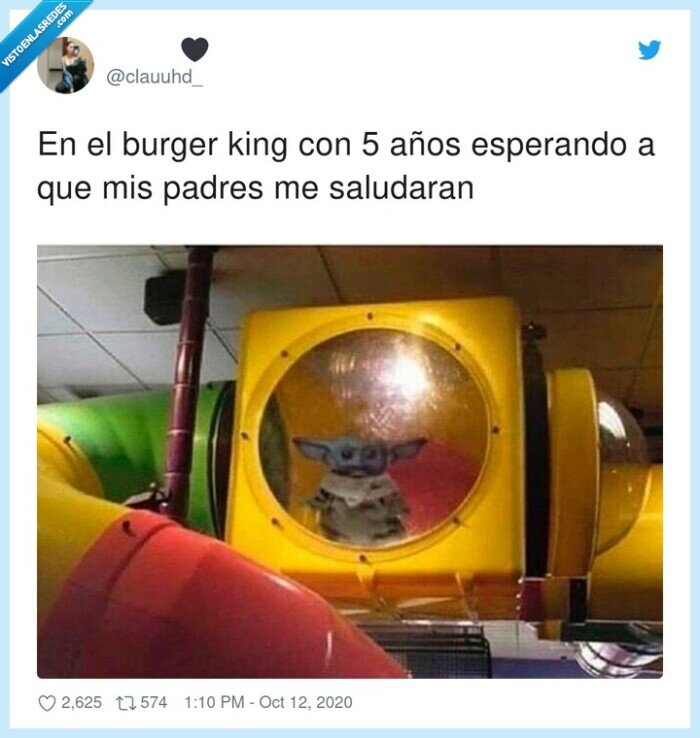 burger,infancia,king,padres,pequeño,saludos,tobogán