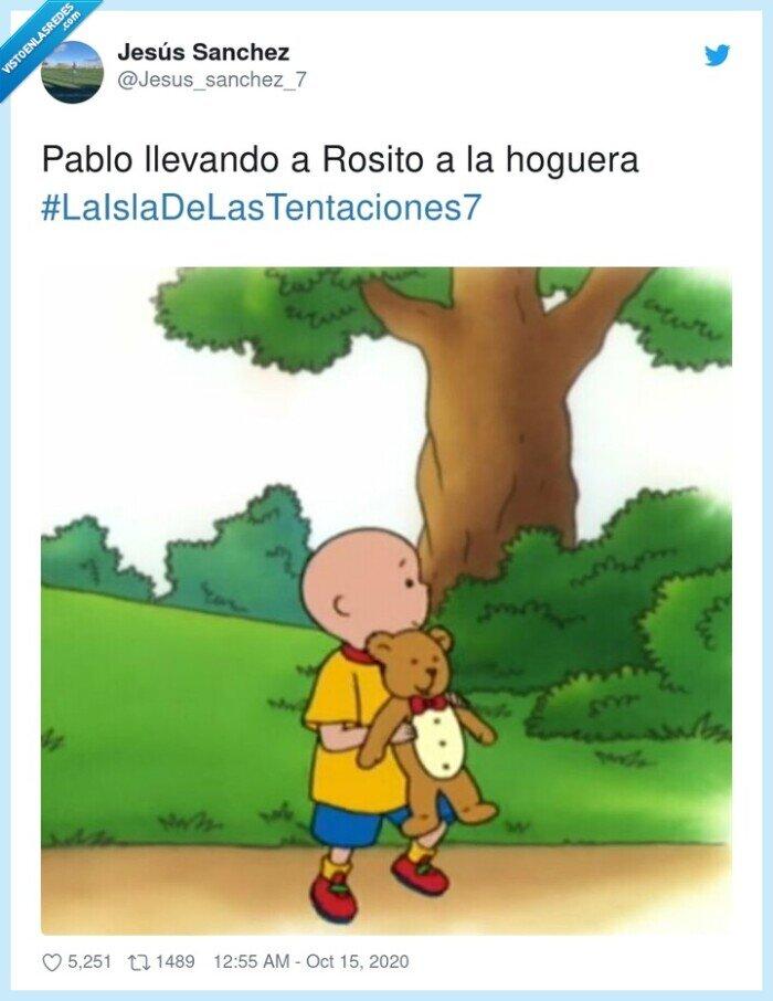 #laisladelastentaciones7,hoguera,pablo,rosito
