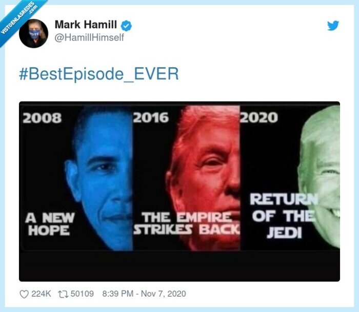 #bestepisode_ever,a new hope,biden,empire strikes back,obama,return of the jedi,star wars,trump