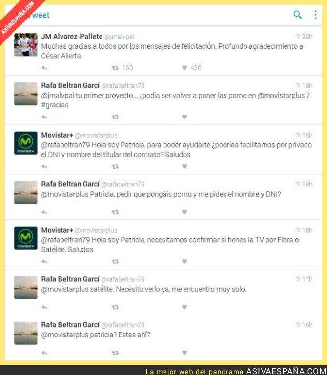 38498 - La curiosa solicitud de la atención al cliente de Movistar+ a un usuario
