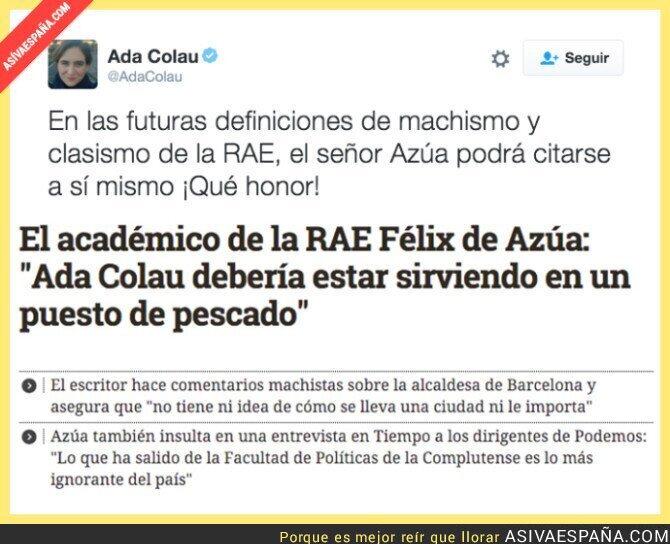 38682 - Ada Colau responde responde al Académico de la RAE y de Ciudadanos