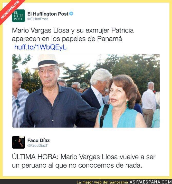 39074 - Vargas Llosa también aparece en los papeles de Panamá. Sorpresa