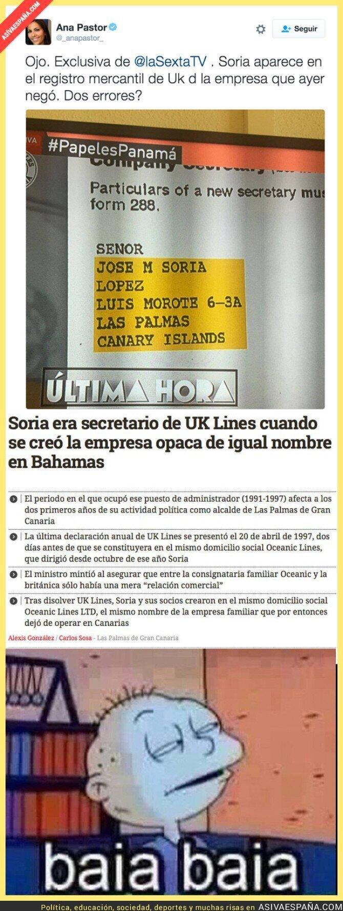 39554 - ¿Nos oculta algo el Ministro Soria?