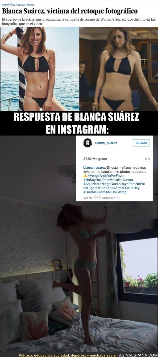 40709 - ¡Ojo! Blanca Suárez responde en Instagram sobre las polémicas fotos retocadas de Women'secret