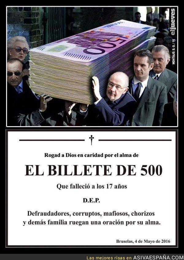 41005 - La Unión Europea podría eliminar los billetes de 500€