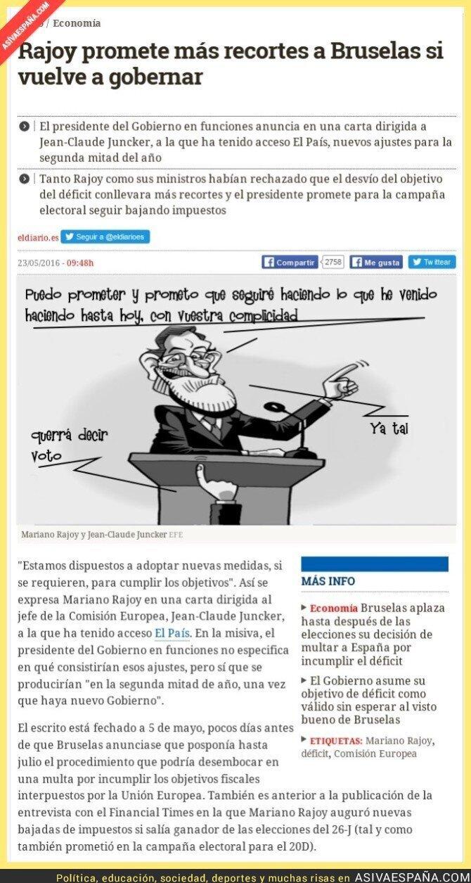 42520 - Rajoy al descubierto, pero le siguen votando