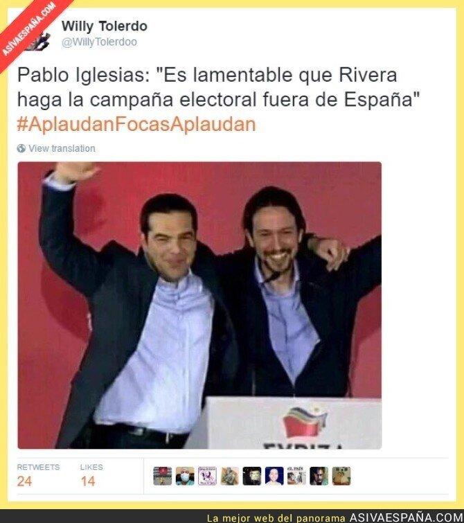 43081 - Es lamentable que Rivera haga campaña electoral fuera de España