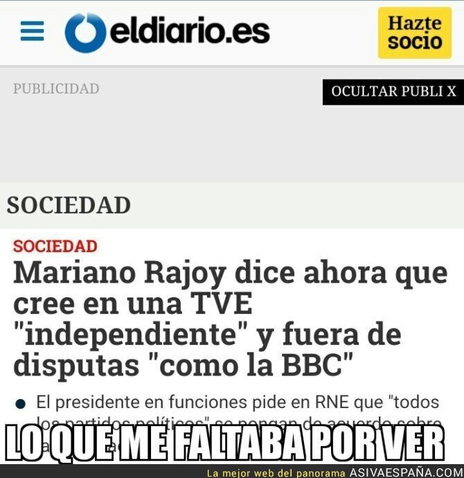 45895 - Rajoy pide una RTVE plural como la BBC