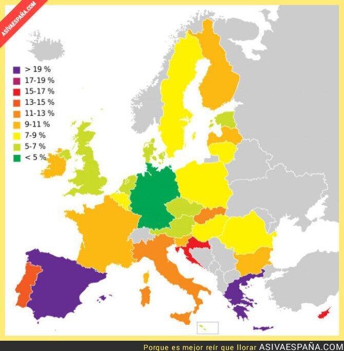 46913 - Tasas de desempleo en Europa... Sin comentarios