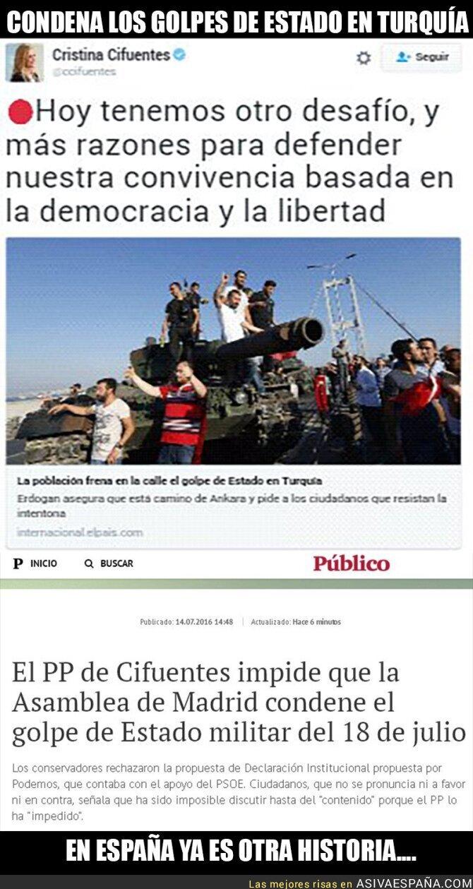 49165 - Cristina Cifuentes condenando Golpes de Estado depende del país