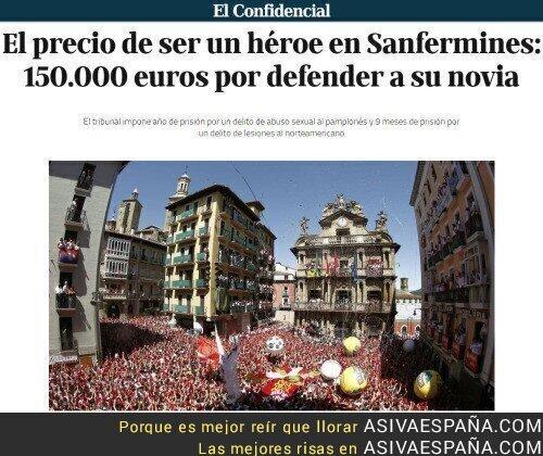 49513 - El precio de ser un héroe en SanFermín: 150.000€ por defender a su novia