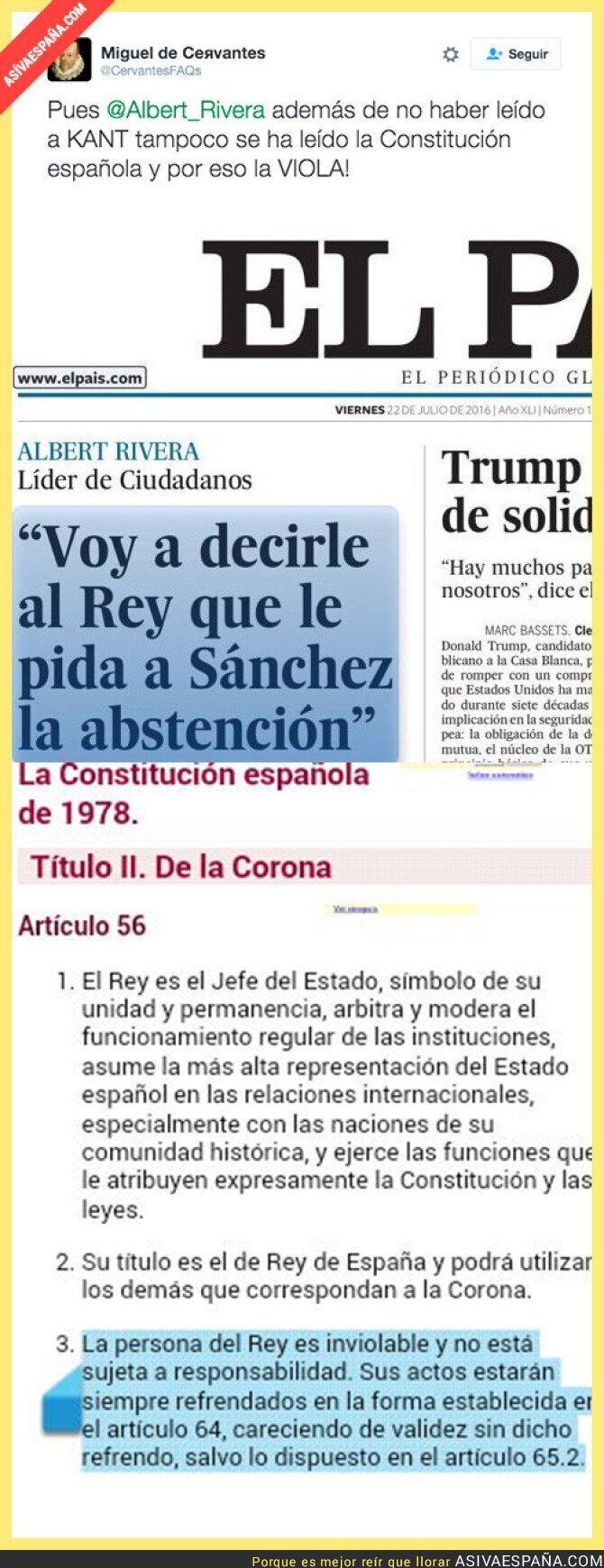49603 - Albert Rivera violando la Constitución Española
