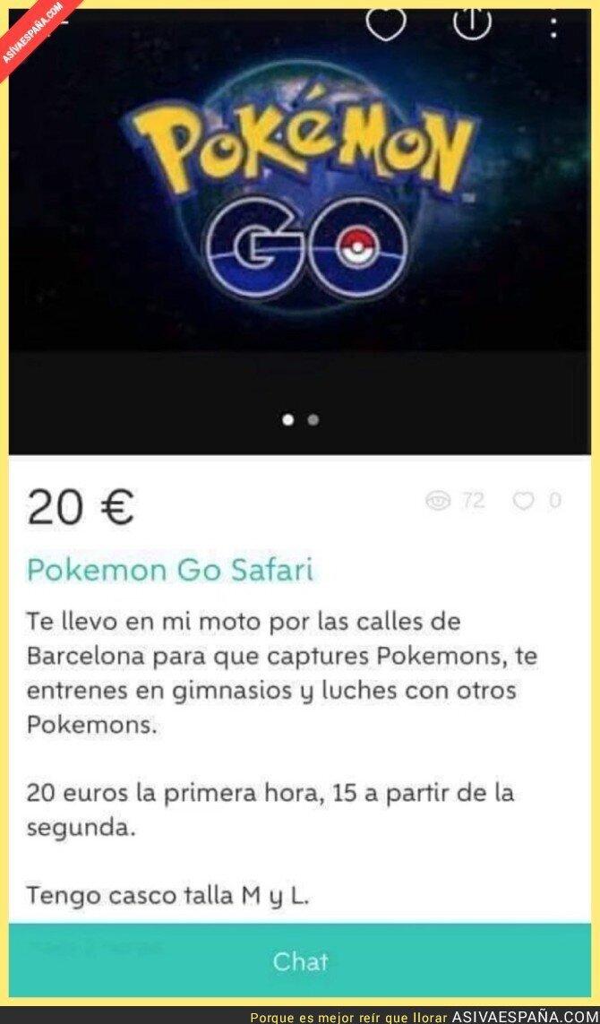 50379 - Esta persona ha encontrado la manera perfecta de ganar dinero con Pokémon Go
