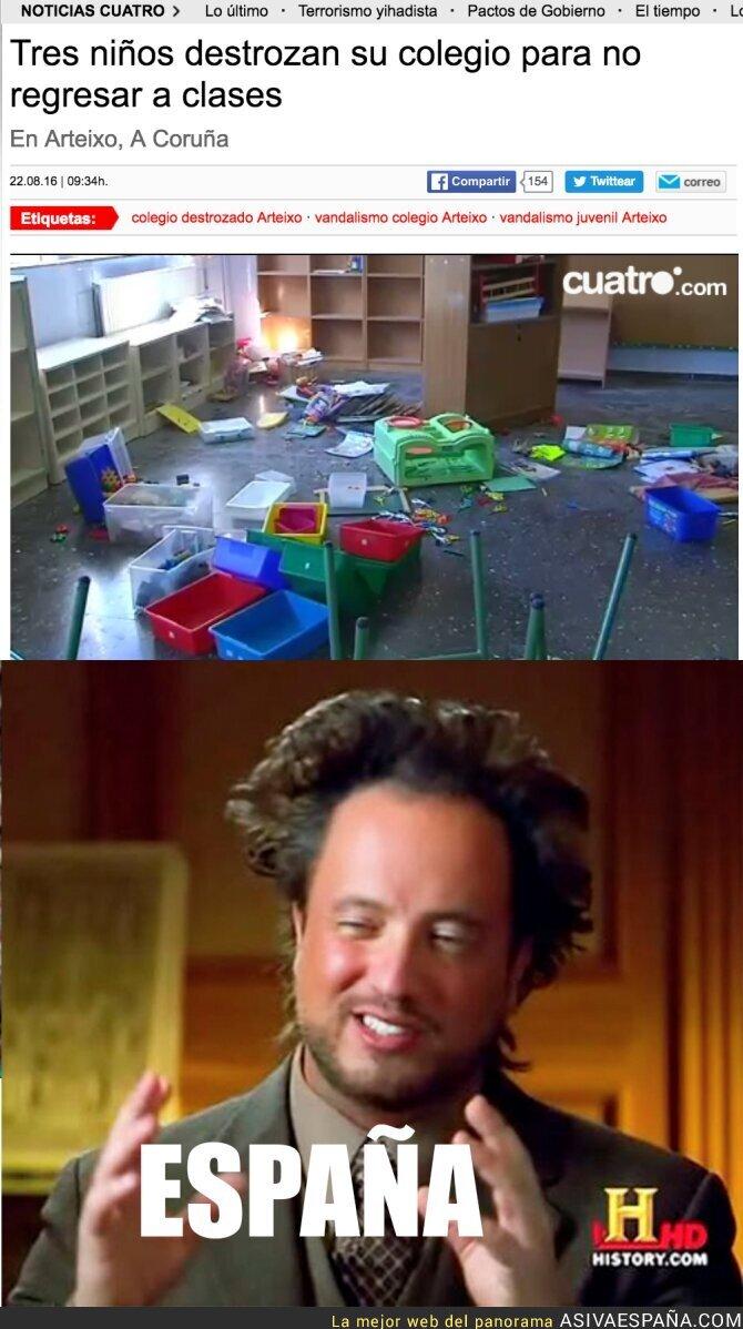 51703 - Tres alumnos destrozan un colegio para no asistir a clase