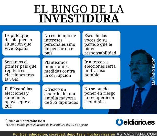 52218 - El Bingo de Rajoy. ¡No veas el debate sin tu boleto!