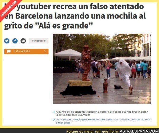 53871 - Un youtuber recrea un falso atentado en Barcelona