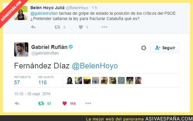 54436 - Zasca numero 327 de Gabriel Rufián en Twitter