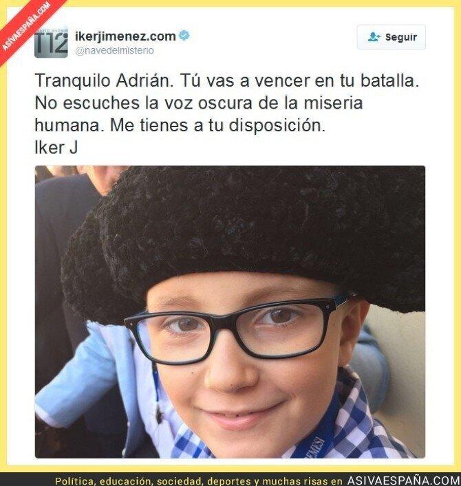 55042 - Iker Jiménez le da su apoyo a Adrián