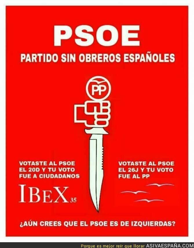 55887 - Quitarse la careta nivel: PSOE