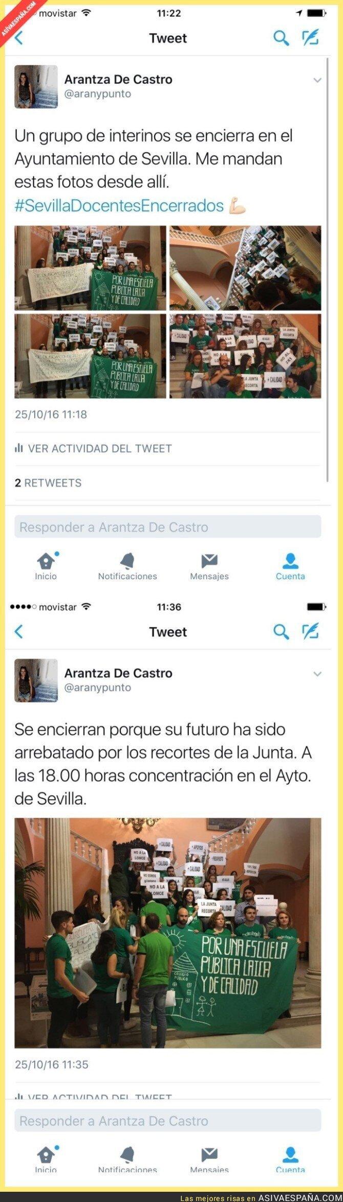 55992 - Docentes encerrados en Sevilla por una educación de calidad