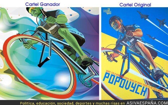 57932 - Acusado de plagio el cartel ganador de la próxima vuelta ciclista a la Comunidad Valenciana