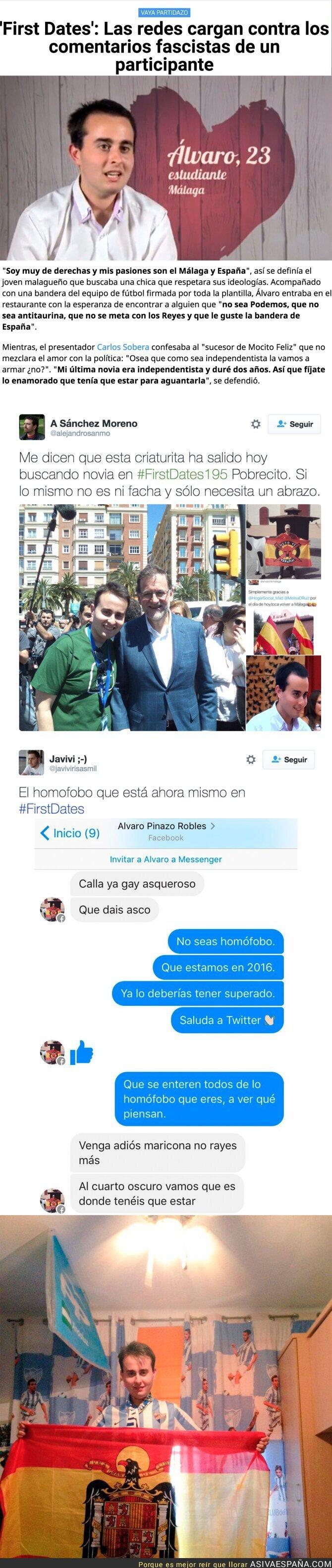 58298 - Llevan a 'First Dates' a un homófobo y fascista para encontrar pareja e internet explota en críticas