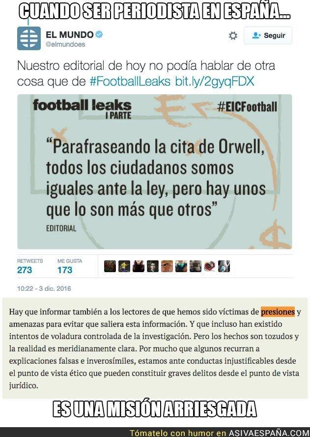 58438 - El Mundo habla de presiones y amenazas por sacar info de Cristiano Ronaldo