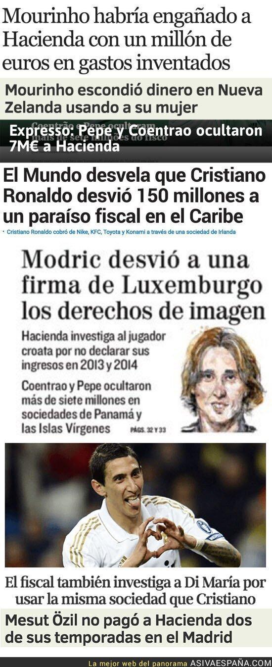 58542 - Jugadores del Real Madrid pillados por Football Leaks hasta el momento en la última semana