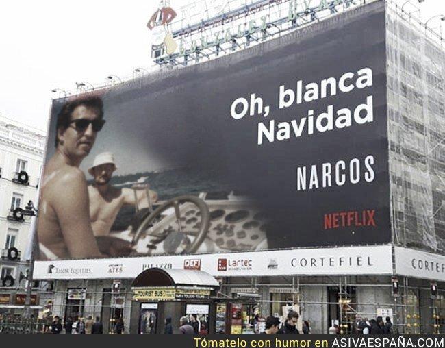 58581 - Netflix actualiza su promo de Narcos en Madrid