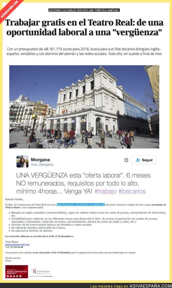 58934 - La oferta laboral en el Teatro Real que está causando indignación total