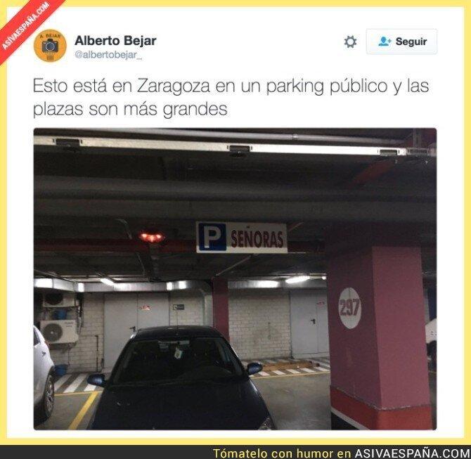 59457 - La sorpresa que te encuentras en un parking de Zaragoza...