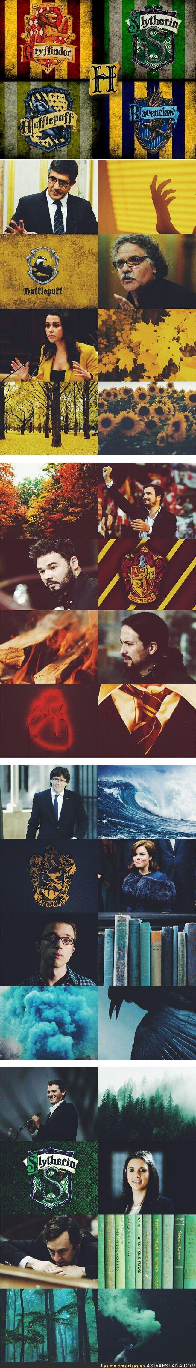 59671 - Así serían las casas de Hogwarts con los políticos españoles