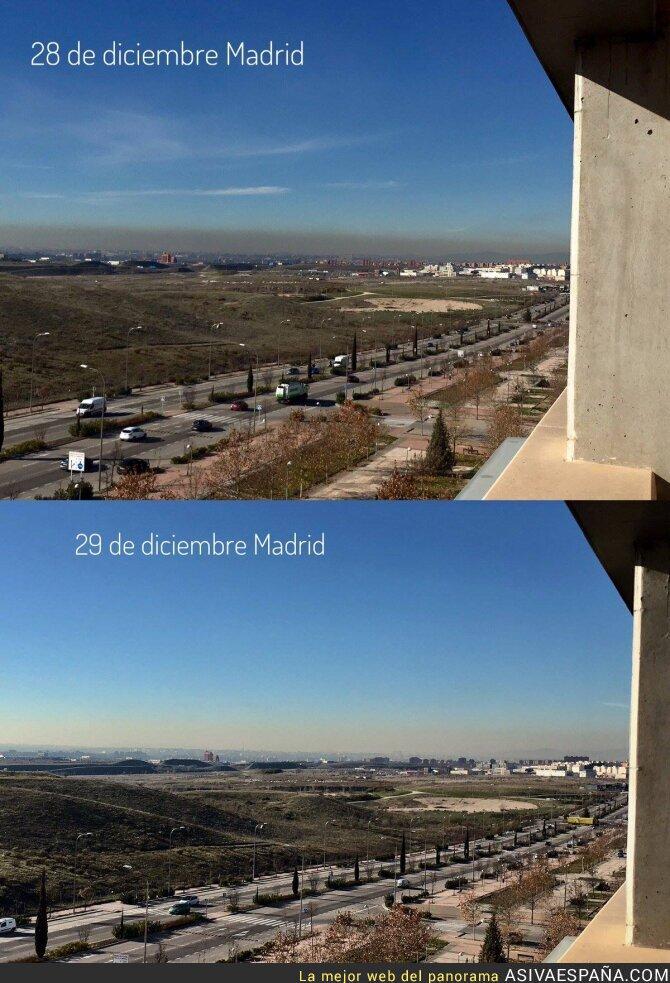 59875 - ¡IMPRESIONANTE! Así cambia Madrid después de un día sin la mitad de coches
