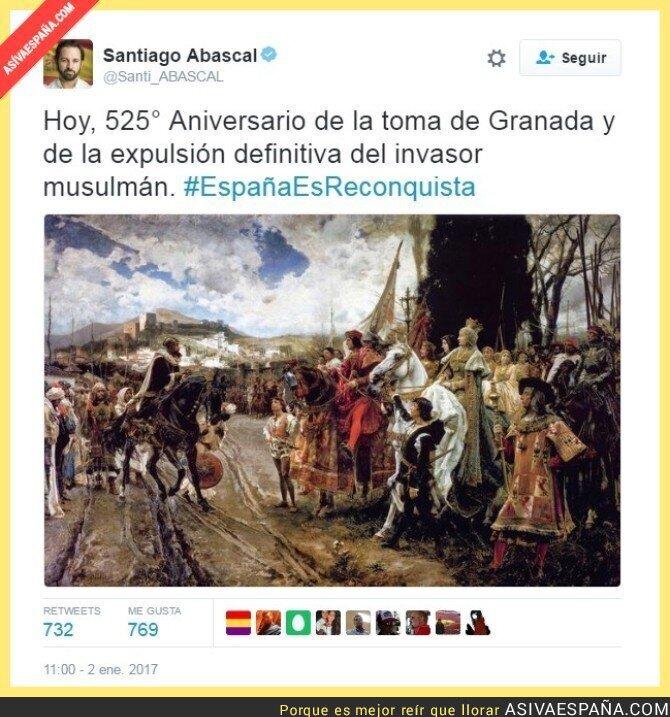60042 - Santiago Abascal se luce con el aniversario de la conquista de Granada