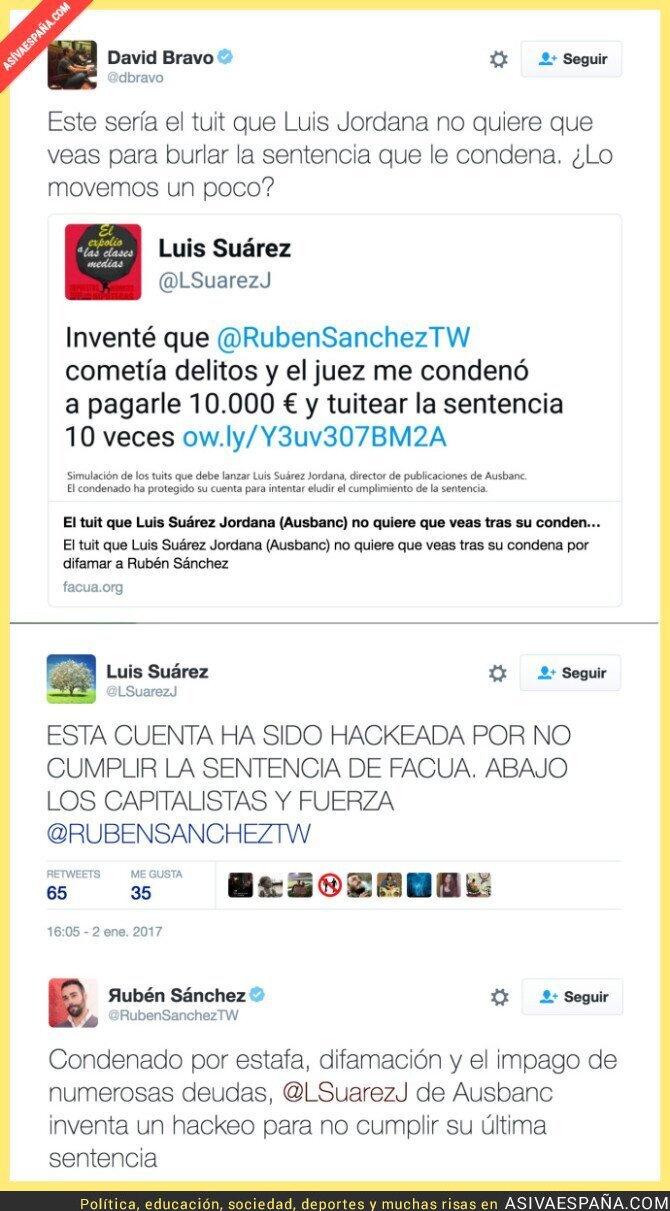 60072 - Luis Suárez Jordana (Ausbanc) se inventa un hackeo para no cumplir una sentencia