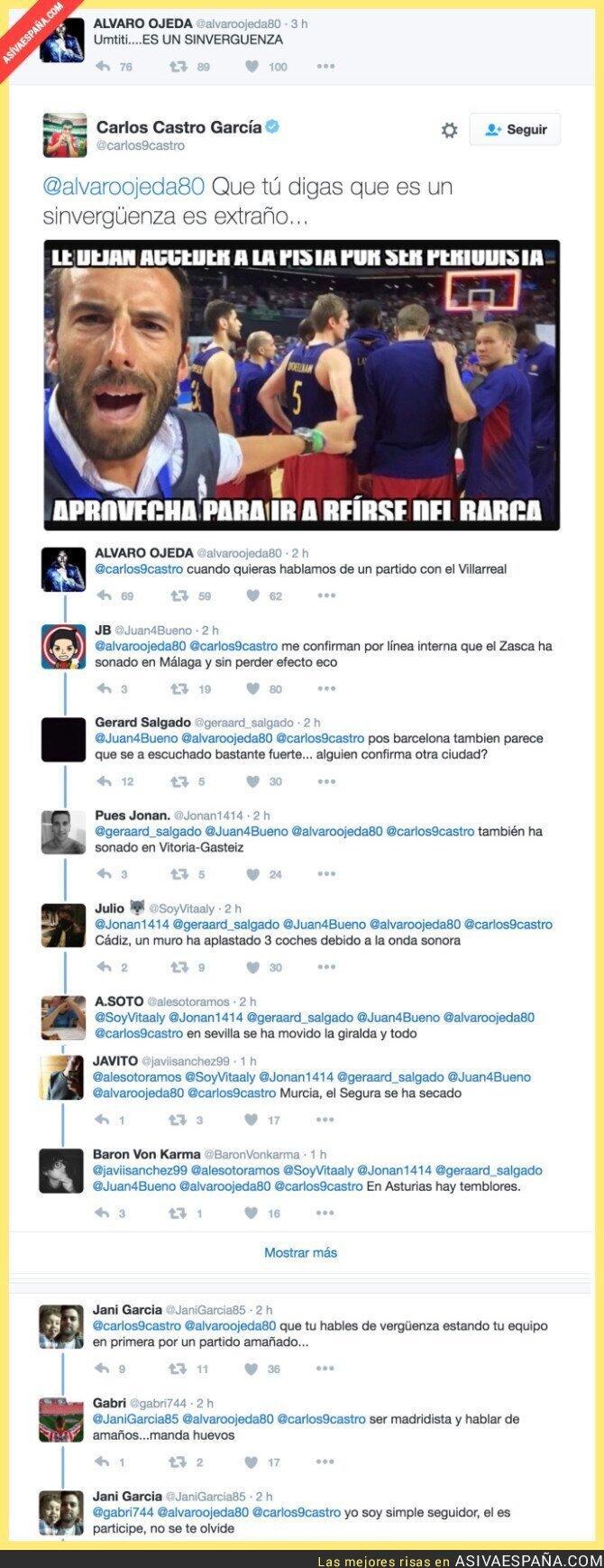 60249 - Un jugador del Sporting le pega un ZASCA a Álvaro Ojeda y las respuestas son geniales