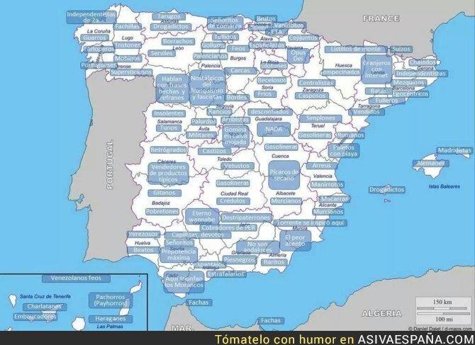 61428 - Los adjetivos más conocidos para los habitantes en cada región de España