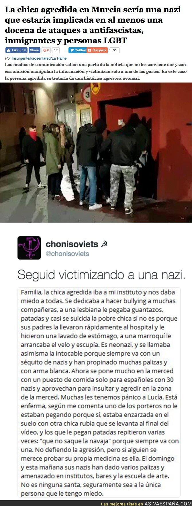 61445 - La historia que no cuentan los medios sobre la chica agredida en Murcia por antifascistas