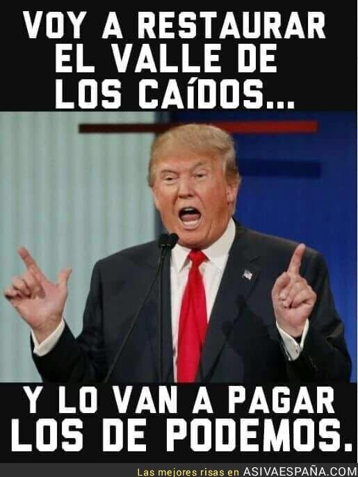 62081 - Trump haciendo de las suyas en España