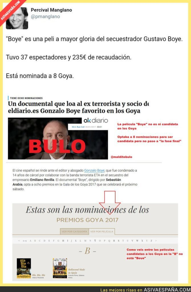 62147 - Lo típico, Percival Manglano difamando sobre Los Goya