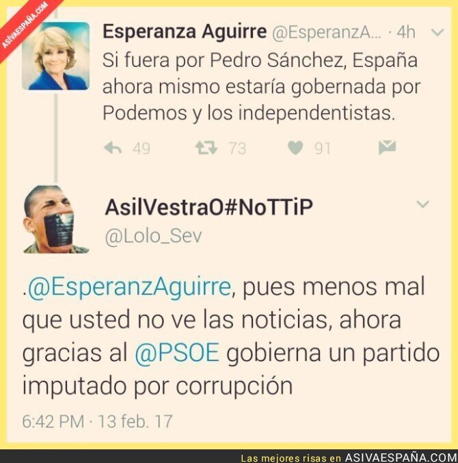 62785 - ¿Alguien le puede decir a Esperanza Aguirre que está mejor callada?