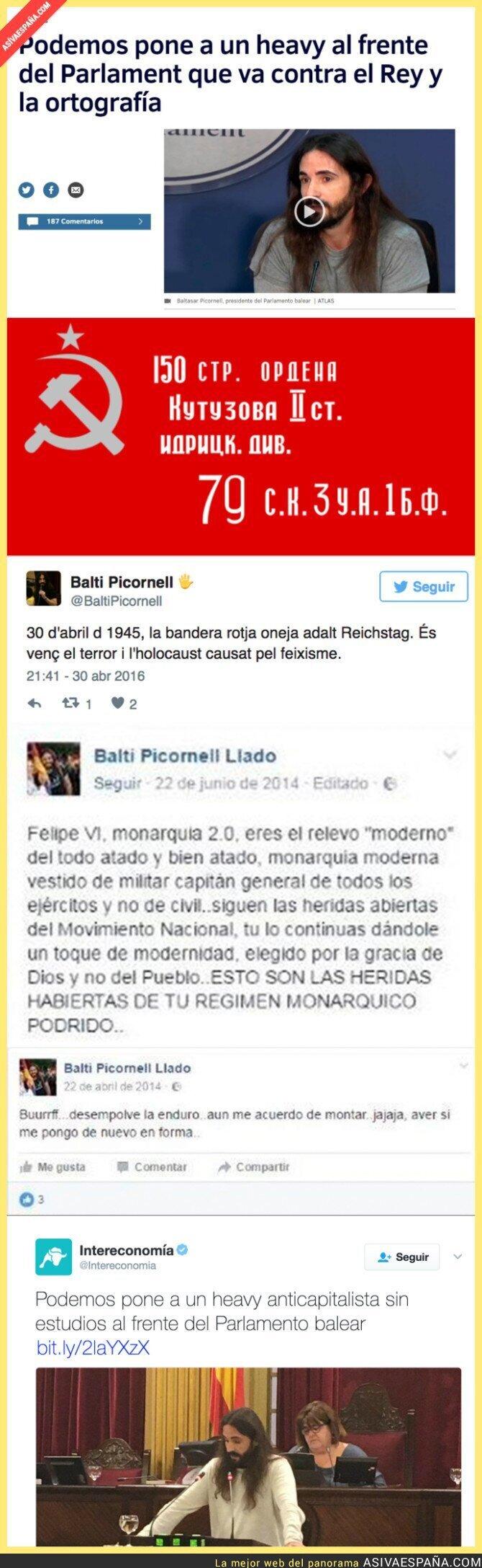 62799 - La derecha española enloquece porque Podemos elige a un 'heavy' para dirigir el Parlament Balear