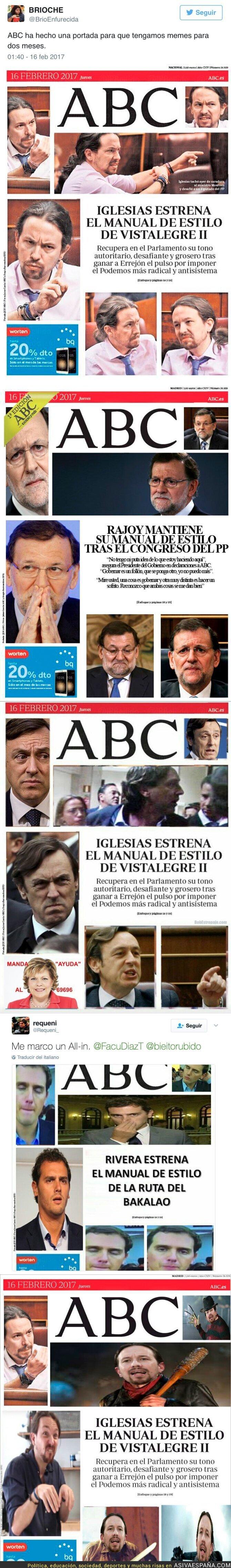 62878 - El ABC saca una portada con caras enfadadas de Pablo Iglesias e internet se llena de parodias