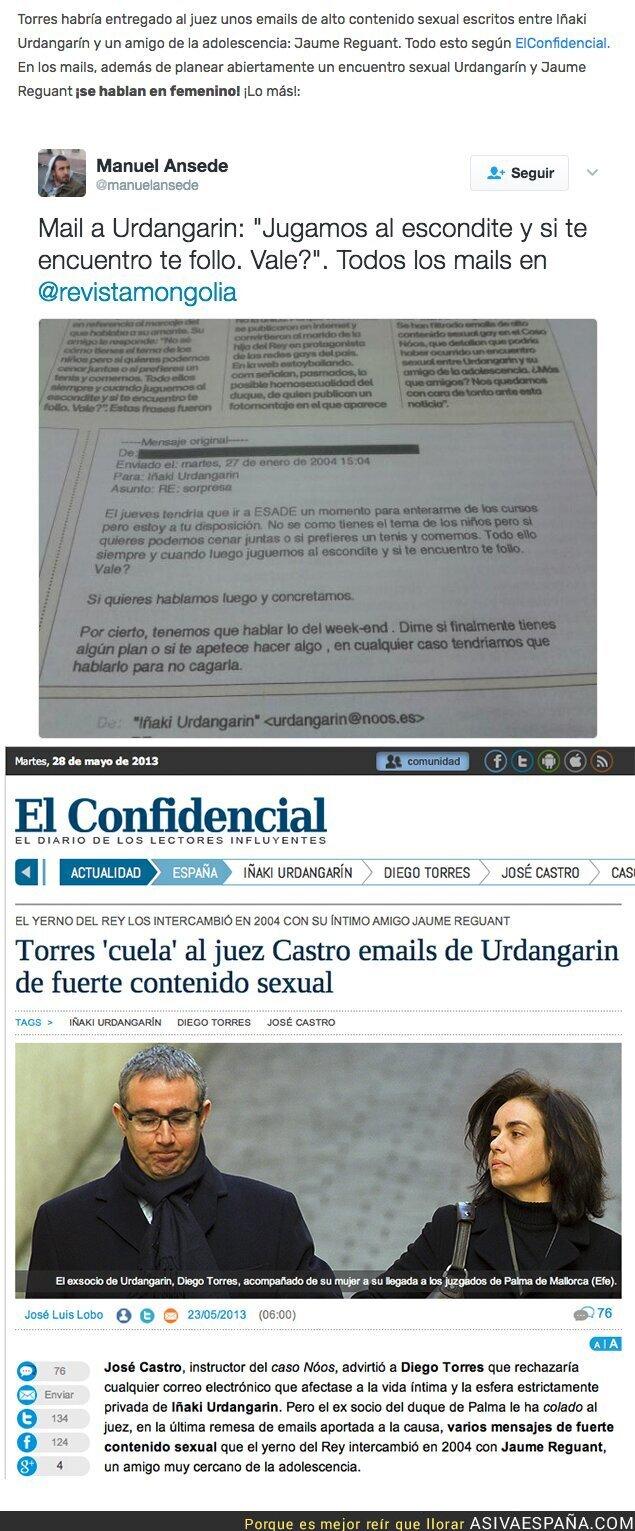 62962 - El sorprendente e-mail de Iñaki Urdangarín a un amigo íntimo aportado en el juicio del Caso Noos