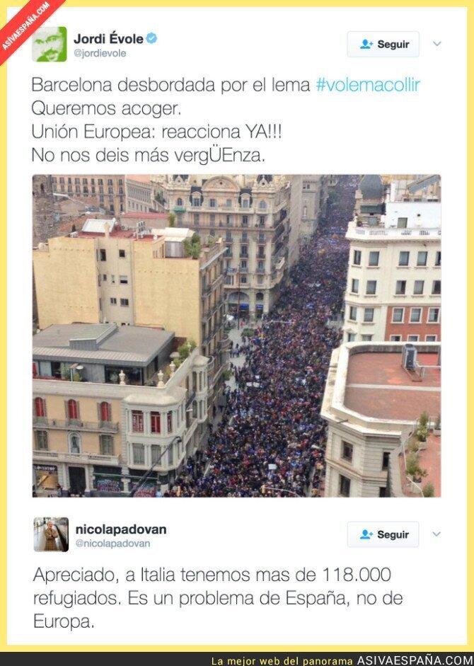 63054 - Periodista italiano le pega un zasca a Jordi Évole con los refugiados