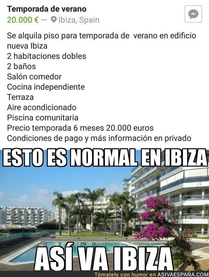 63100 - El abuso de la vivienda de alquiler en Ibiza, un ejemplo