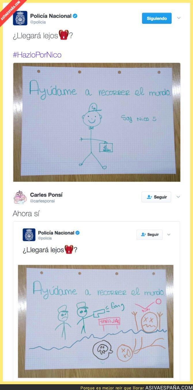 63836 - La Policía tuitea el dibujo de