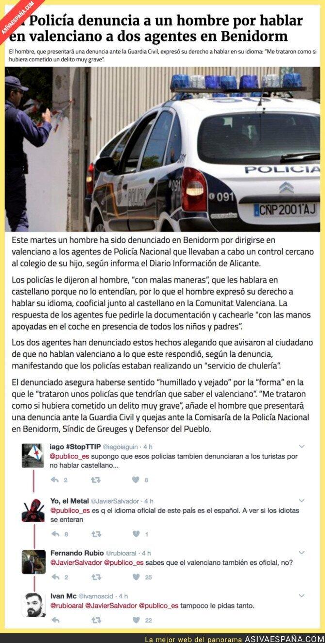 63864 - ¿A quién se le ocurre hablar valenciano en la Comunidad Valenciana?