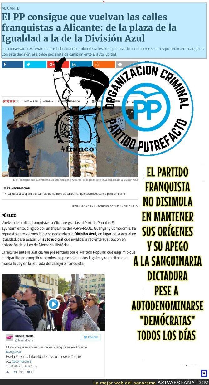 64303 - El PP Partido Franquista por excelencia, ocupándose de lo que más les preocupa