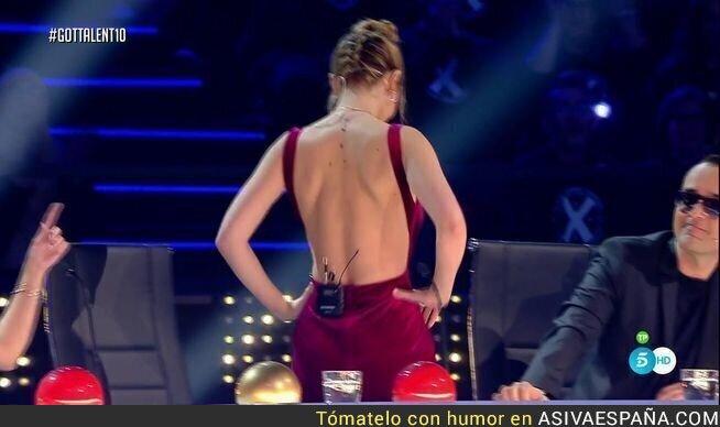 64538 - El explosivo y sugerente look con poca ropa de Edurne deja boquiabierto a la audiencia